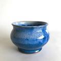 David Clifton Art - Cobalt Blue Glazed Earthenware Pot