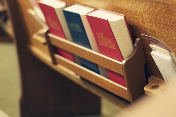 Hymn Books in pews