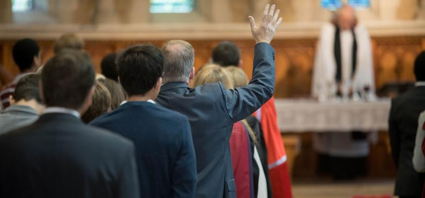 Service at Wycliffe Hall chapel