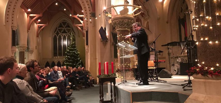 Greg Downes preaching at the School of Evangelism 2019