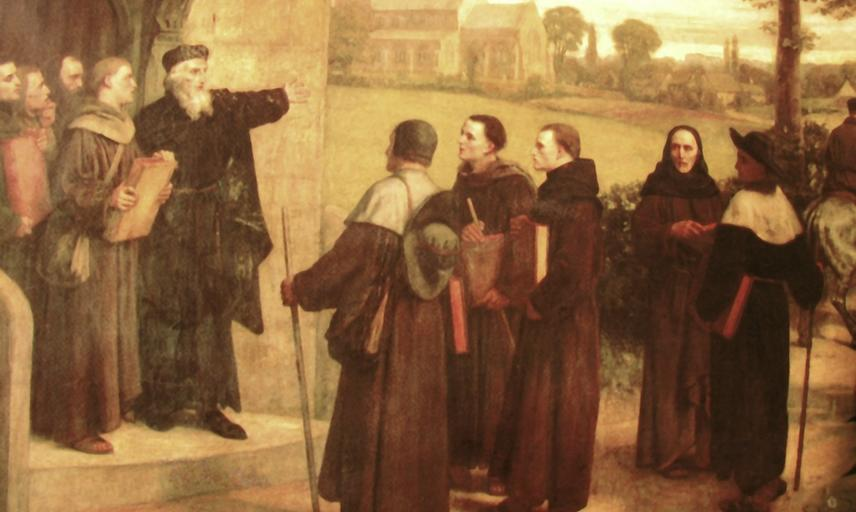 Painting of Wycliffe preaching