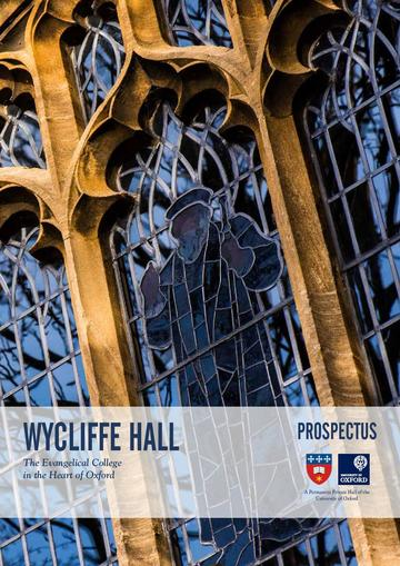 Wycliffe Hall Prospectus cover 2018